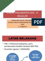 Diklat Prajabatan Golongan III Reguler