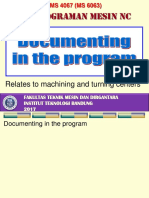12. NC Documentation in the Program