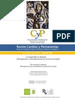 García García, Víctor Daniel-La seguridad en disputa-Revista Cambios y permanencias-Vol 9, Nùm.1. pp143-165.pdf