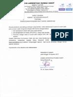 Surat Edaran No 857 Th 2017 Ttg Pengecekan Perizinan Saat Survei Akreditasi Web