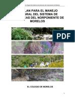 Plan para el Manejo Integral del Sistema de Barrancas del Norponiente de Morelos