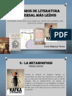 Erick Malpica Flores - 5 Libros de Literatura Universal Más Leídos