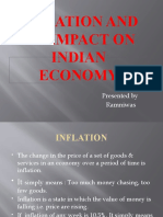 Effect of Inflation on Indian Economy