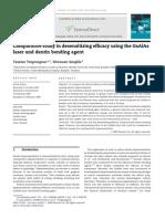 Comparative Study in Desensitizing Efficacy Using the GaAlAs