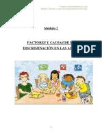 Factores y causas de la discriminación en las aulas.