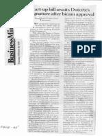 Business Mirror, Feb. 28, 2019, Start-up bill awaits Duterte's signature after bicam approval.pdf