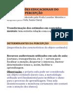 Meireles _percepção