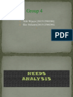 Need Analysis