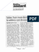 Manila Standard, Feb. 28, 2019, Solon Train more doctors to address rare disease.pdf