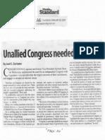Manila Standard, Feb. 28, 2019, Unallied Congress needed - Binay.pdf