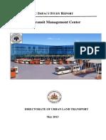 TRAFFIC IMPACT STUDY REPORT -TTMC -Jayanagar.pdf