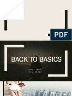 Back to Basics Sermon