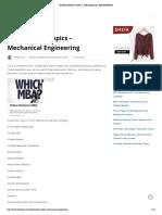 Presentation Topics - Mechanical Engineering