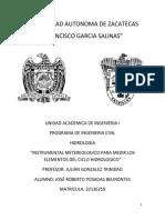 Instrumental Meteorologico Para Medir Los Elementos Del Ciclo Hidrologico