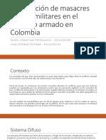 Clasificación de Masacres de Paramilitares en El Conflicto