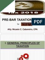 Taxation Law Cabaneiro