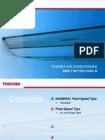 Toshiba Fixed Speed Hiwalls