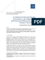 A avaliação do desempenho dos funcionários e dos dirigentes na Administração Pública portuguesa