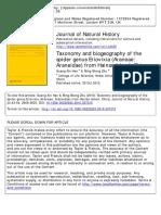Taxonomy and Biogeography of the Spider Genus Eriovixia (Araneae- Araneidae) From Hainan Island, China