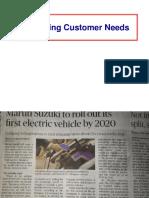 5 Customer Needs