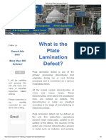 What is the Plate Lamination Defect