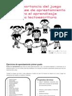 Ejercicios de Aprestamiento Primer Grado II FASE