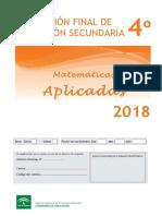 Revalida Matematicas Aplicadas Secundaria 2018