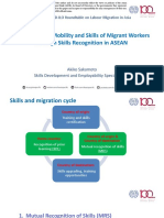 Enhancing the Mobility and Skills of Migrant Workers through Skills Recognition in ASEAN