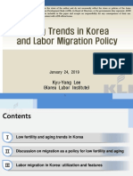 Aging Trends in Korea and Labor Migration Policy