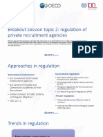 Regulation of Private Recruitment Agencies