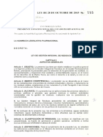 LEY Nº 755 DE GESTION INTEGRAL DE RESIDUOS SOLIDOS
