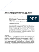 Analytical and Numerical Investigation of Bolted Steel Ring Flange Connection for Offshore Wind Monopile Foundations