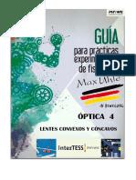 Guia de practica de laboratorio de Fisisca  Colegio Max Uhle  Arequipa Peru -  Lentes