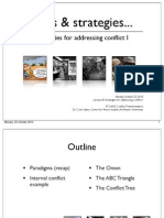 PS 2A03 (2010) Lecture 8: Strategies for Addressing Conflict I