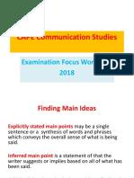 2018 Excelsior Communication Studies  Workshop  (1).ppt
