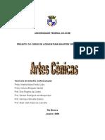 Projeto pedagógico - público - do Curso de Licenciatura em Artes Cênicas