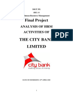 Training & Development Report on City Bank