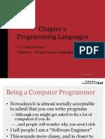 Ch 02 Programming Languages Slides