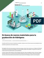 En Busca de Nuevos Materiales Para La Producción de Hidrógeno – Proyecto FSE
