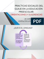 Las Practicas Sociales Del Lenguaje en La Educación Preescolar