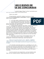 Dicas e Bizus de Provas PDF