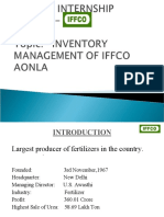 Inventory Mgmt in IFFCO