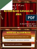 Klasifikasi Gangguan Jiwa