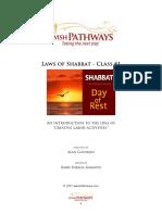 1 Shabbat Day of Rest 1