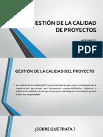 Gestión de La Calidad de Proyectos (1)