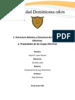 Estructura Atómica y Estructura de Las Cargas Eléctricas.