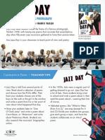 Jazz Day by Roxane Orgill & Francis Vallejo Teacher Tip Card