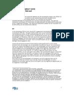 Bijlage BBO Notitie Schatting Economische Impact LF2018