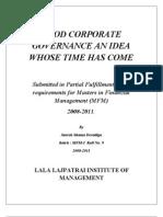 Corporate Governance Project