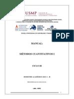 MANUAL MÉTODOS CUANTITATIVOS I - 2013 - I - II.docx